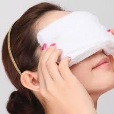 「眼精疲労に蒸しタオル」の画像検索結果