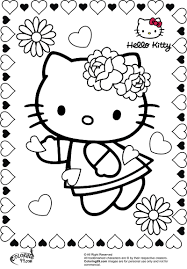 Hello Kitty Valentine Coloring Pages - Coloring Home