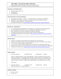resume attributes best solutions of resume personal attributes sample also download