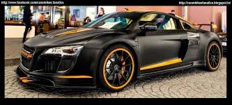 audi r8 matte black. custom matte black audi r8 with orange stripes spotted somewhere in uae