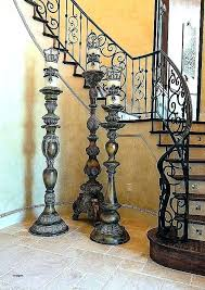 floor candle pillars pillars pillar candle holder tall holders floor large standing silver decorative rustic bling