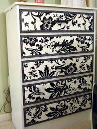 decorating furniture with paper. Furniture-makeover-wallpaper-6-1 Decorating Furniture With Paper O