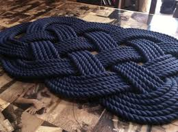dark navy blue bath rugs: this is made from navy blue cotton   inch rope it is the