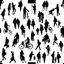 街の人たち シルエット イラスト素材 2490478 フォトライブラリー