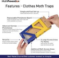 Moth Light Traps Amazon Powerful Moth Traps For Clothes Moths 3 Pack Refillable Odor Free Natural From Mothprevention Best Catch Rate For Clothes Moth And Carpet