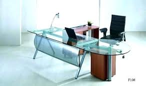 office table with glass top.