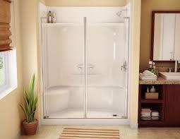 bathroom semi frameless contemporary pivot shower door glass panel in clear framed sliding shower enclosure