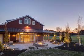 Take A Peek Inside This Stunning FullyStocked Party Barn - Exterior barn lighting