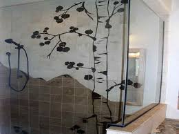 painting tile wallsBathroom Ideas Cream Wall Painting Bathroom Tile With Glass Door