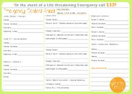 Emergancy Contact Sheet Parents In The City Free Printable Emergency Contact Sheet