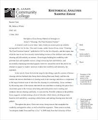Example Of A Analysis Essay Free 10 Analysis Essay Examples Samples In Pdf Doc