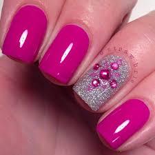 Pink Nail Art Design Pink Silver Nail Designs Spring Style Stylepics