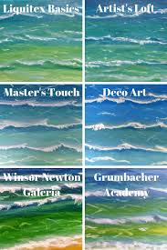 Master S Touch Acrylic Paint Color Chart Acrylic Comparison Ocean Waves Smoky Mountain Diva