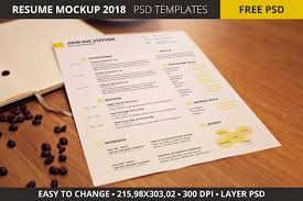 Resume Mockup Free Free Resume Mockup 24 In PSD Free PSD Templates 12