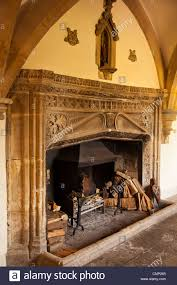 grand open fireplace in the bishops palace wells somerset uk grand a99 grand