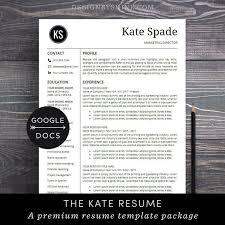 Google Doc Resume Template Modern Google Docs Resume Template Professional Resume Cv Template Free Cover Letter Creative Modern Resume Maker For Google Doc Kate