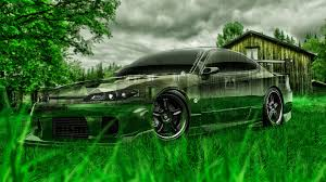 nissan silvia s crystal nature car