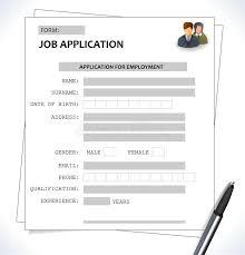 Minimalist Cv Resume Template Job Application Form Stock Vector