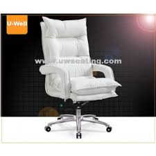 white leather executive chair. Comfort High Back Leather Executive Boss Office Chair White