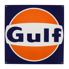 Gas Station Logo Gulf Gas Station Logo Metal Sign Garage Reproduction Man Cave Wall