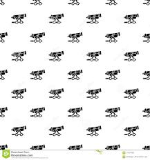 Coastal Iron Design Coastal Cannon Pattern Vector Seamless Stock Vector