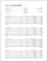 Daily Cash Register Balance Sheet Template Fresh Position