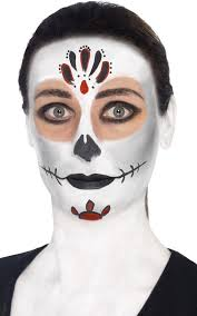 more views of mexican sugar skull face paint