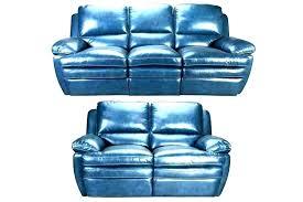 blue leather recliner chair light reclining sofa rec