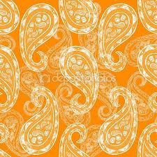 seamless vintage wallpaper pattern orange. Contemporary Seamless Abstract Paisley Background Fashion Seamless Pattern Monochrome Vector  Wallpaper Indian Style Orange And Seamless Vintage Wallpaper Pattern Orange A