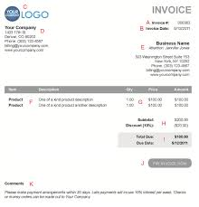 Free Electronic Invoice The 10 Different Sections Of An Electronic Payment Invoice