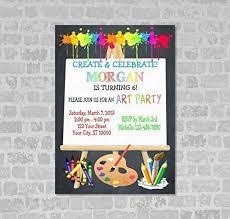 Amazon Com Art Party Invitations Art Birthday Party