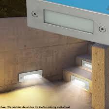 2er Set Led Einbau Leuchten Garagen Wand Lampen Au En Treppen