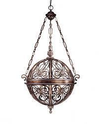 6 light ball pendant