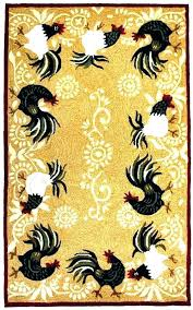 kitchen rooster rug area rugs for
