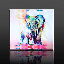 com mohoo 50x50cm elephant oil painting canvas wall art wall decorations paintings for living room bedroom kitchen office etc paintings