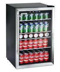 mini glass door refrigerator small refrigerator glass door beverage cooler home bar game room mini fridge