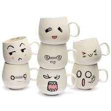 cute mugs online. Contemporary Cute Creative Ceramic Cups Cute Cartoon Face Expression Water Container Lovers  Coffee Mugs Travel Hot Selling And Online