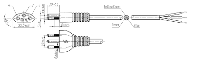 switzerland power cords mega electronics, inc 3 Prong Plug Diagram the 210 02 is a power cord used in switzerland with 3 prong plug, h05vvf3g1 0mm to roj and strip, is rated at 10a 250v and carries the sev approval wiring diagram 3 prong plug