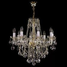 crystal chandelier in size of 59 x 57 cm with 8 light sources is decorated with classic crystal exclusive or swarovski spectra crystal ts