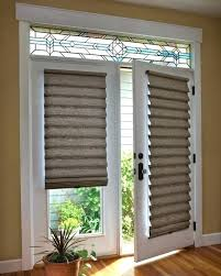 patio door shades beautiful roman shades for french patio doors shade on door with stained glass