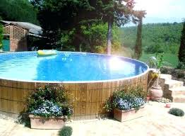 above ground swimming pool ideas. Above Ground Pool Landscape Ideas Great Swimming Deck O