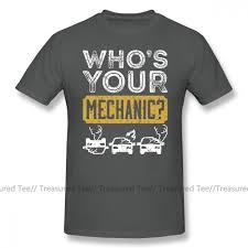 Auto Tshirt Design Us 11 72 36 Off Mechanic T Shirt Who S Your Mechanic Distressed Design Auto Repair Gifts T Shirt 100 Percent Cotton Print Tee Shirt Tshirt In