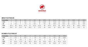 Mammut Size Chart Uk Name