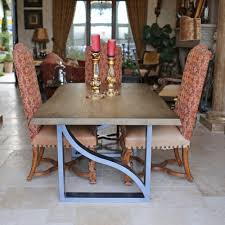 Kitchen: Ancient Live Edge Steel Dining Table Design Steel Kitchen Table