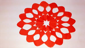 Paper Cutting How To Make Paper Cutting Flower Design Origami Paper Craft Tutorials