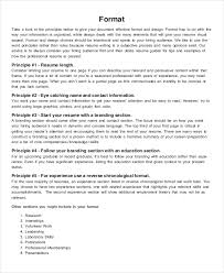 26+ Best Resume Formats - Doc, Pdf, Psd   Free & Premium Templates