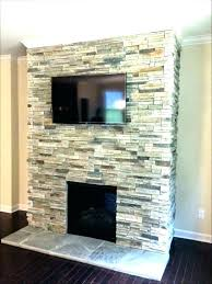 stacked stone fireplace ideas images faux rock