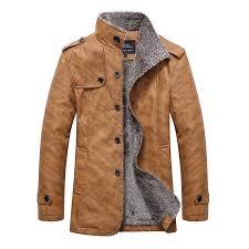 hot winter warm motorcycle leather jacket men s