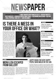 Newspaper Template Illustrator 35 Best Newspaper Templates In Indesign And Psd Formats