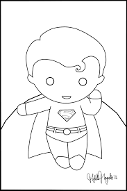Chibi Superman COLORING PAGE by Kitty-Stark on DeviantArt